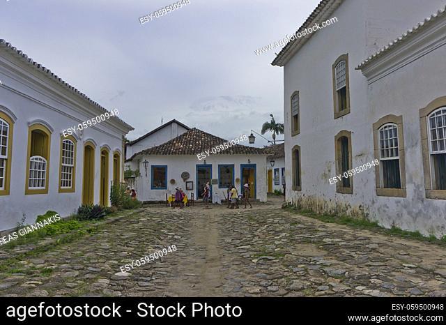 Paraty, Old city street view, Brazil, South America