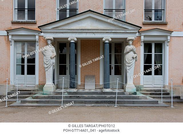 France, Châtenay-Malabry, house of Chateaubriand, facade over the park, la Vallée aux Loups Photo Gilles Targat