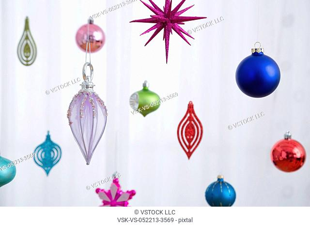 Colorful Christmas baubles