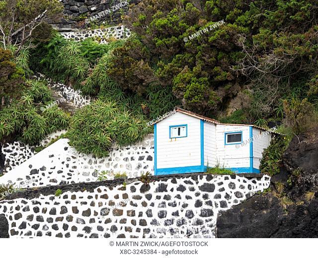 Faja do Ouvidor. Sao Jorge Island, an island in the Azores (Ilhas dos Acores) in the Atlantic ocean. The Azores are an autonomous region of Portugal