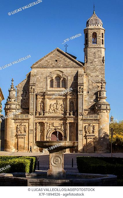 Sacra capilla del Salvador, Church of the Salvador 16th century in Plaza de Vázquez Molina, Úbeda  Jaén province  Andalusie  Spain