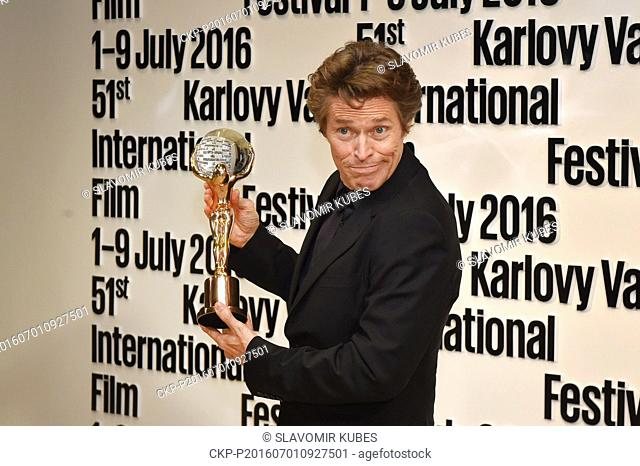 U.S. actor Willem Dafoe received Crystal Globe award for contribution to world cinema at the opening ceremony of the 51st Karlovy Vary International Film...