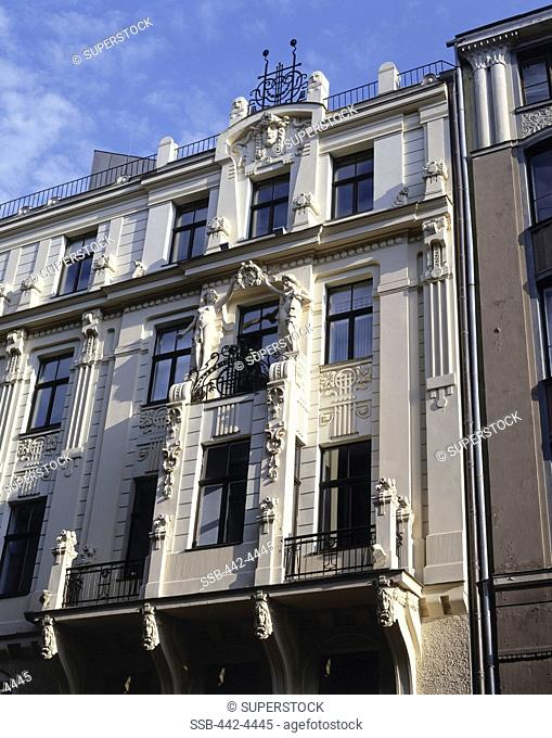 Low angle view of a building, Riga, Latvia