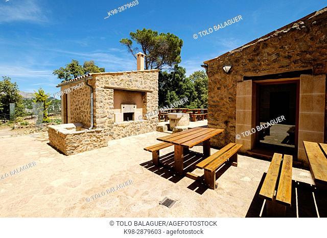 refugio de Son Amer , municipio de Escorca, sierra de Tramuntana, Mallorca, balearic islands, spain, europe