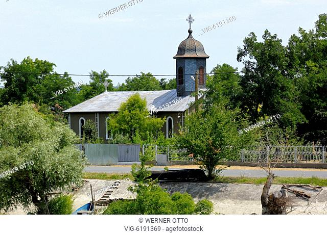 Orthodox church in Partizani at the Sulina branch of the Danube, The Church dedicated to St. Princes, village church, Romania, Tulcea County