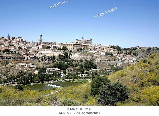 Cityscape with Alcazar and Cathedral, Toledo, Spain
