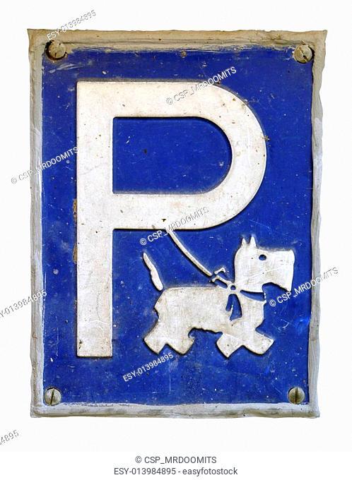 Dog Parking Sign