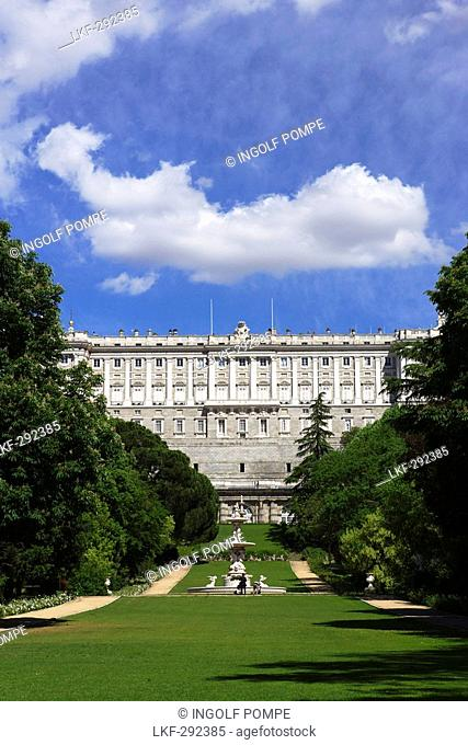 Palacio Real de Madrid, the biggest palace in Europe, Madrid, Spain