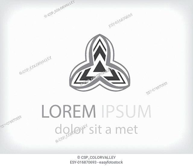 Corporate vector logo design template