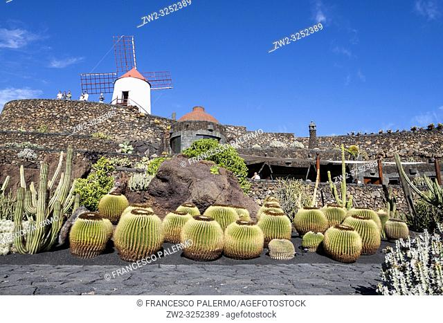 The cactus garden project of César Manrique. Guatiza, Lanzarote. Spagna