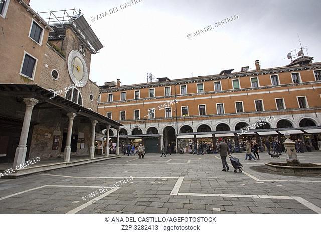 Venice Veneto Italy on January 19, 2019: Cityscape at a winter morning