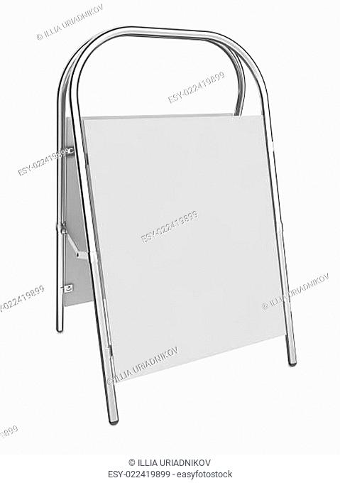 Sandwich Board isolated on white