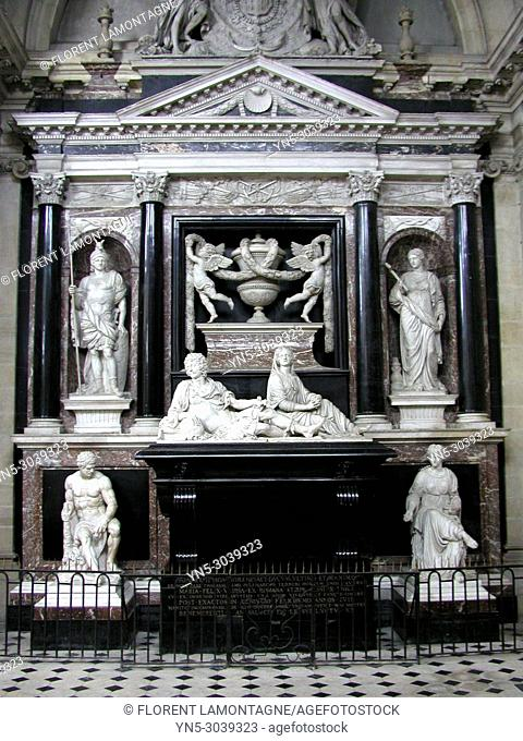 Mausoleum of Duke henri II de Montmorency in the chapel of Visitation in Moulins (Allier department and Auvergne region)