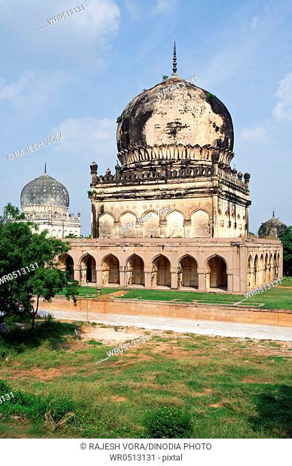 Domed tombs of qutub shahi kings , Hyderabad , Andhra Pradesh , India
