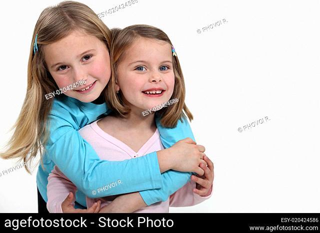 A sisterly embrace
