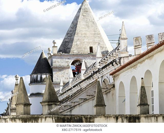 Nossa Senhora da Assuncao, the episcopal church. Elvas in the Alentejo close to the spanish border. Elvas is listed as UNESCO world heritage