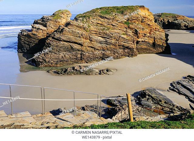 Rocky bloks in As Catedrais beach, Lugo