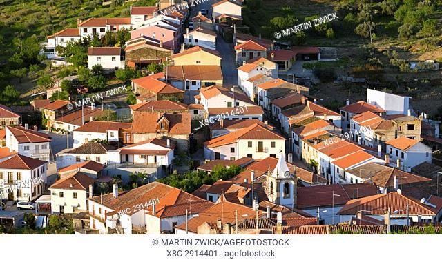 Castelo Melhor near Vila Nova de Foz Coa. The valley of river Douro. It is the wine growing area Alto Douro and listed as UNESCO World heritage