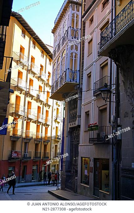 Pablo Monguio's Casa Ferran on Calle Nueva. Teruel, Aragón, Spain, Europe