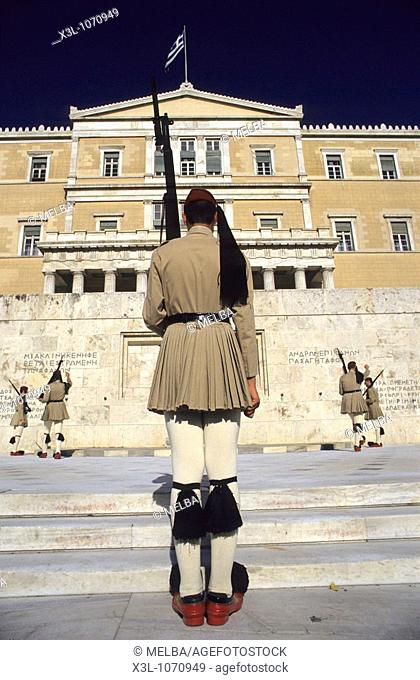 Changing of Guard at Parliament house in Athens Greece