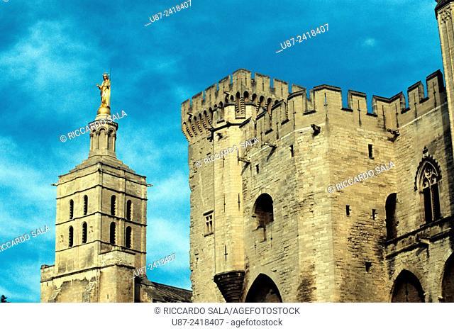 France, Provence, Avignon, Papal Palace, Palais des Papes