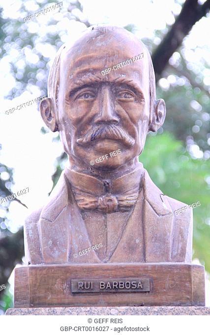 Sao Paulo; SP; Brazil; Mogi Mirim; Rui Barbosa Square; Rui Barbosa bust