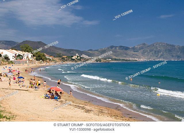Beach and Coastline at Isla Plana, Cartagena in the Region of Murcia, South Eastern Spain