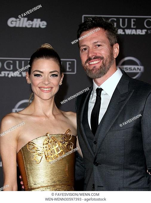 """Premiere Of Walt Disney Pictures And Lucasfilm's """"""""Rogue One: A Star Wars Story"""""""" Featuring: Jaime King, Kyle Newman Where: Hollywood, California"""