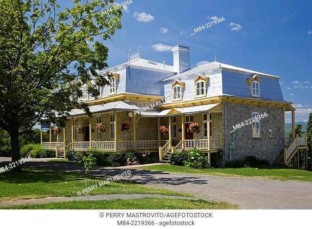 La Maison de nos Aieux (Information Centre), Sainte-Famille, Ile d'Orleans, Quebec, Canada