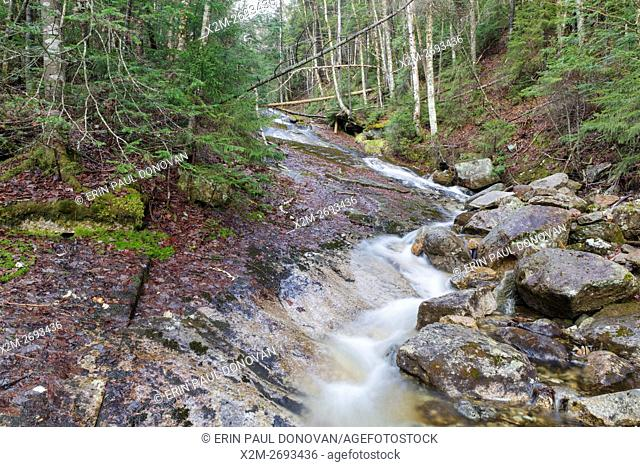 Tecumseh Brook in Waterville Valley, New Hampshire during the spring months