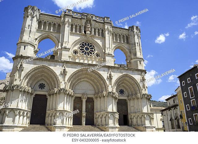 Exterior View of the Cathedral of Cuenca, Castilla La Mancha, Spain