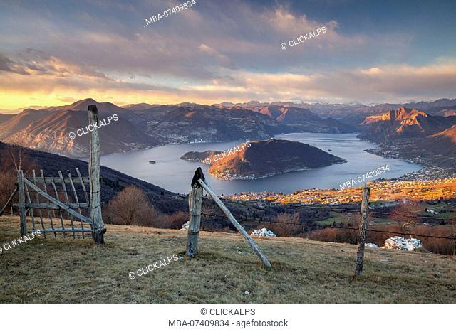 Colmi of Sulzano, lake Iseo, Brescia district, Lombardy, Italy