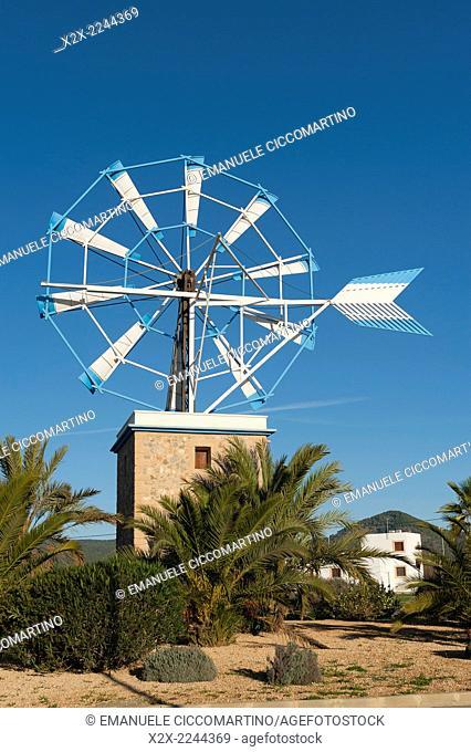 Windmill, Ibiza, Balearic Islands, Spain, Mediterranean, Europe