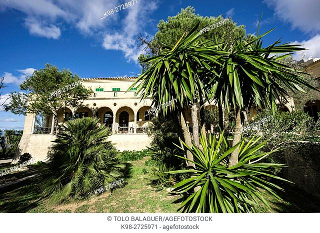 santuario de Cura, en la cima de la montaña de Randa, Algaida, Majorca, Balearic Islands, Spain