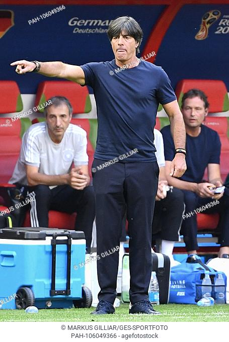 Frustrated by coach Joachim Jogi Loew (Germany) in Kazan. GES / Soccer / World Cup 2018 Russia: South Korea - Germany, 27.06
