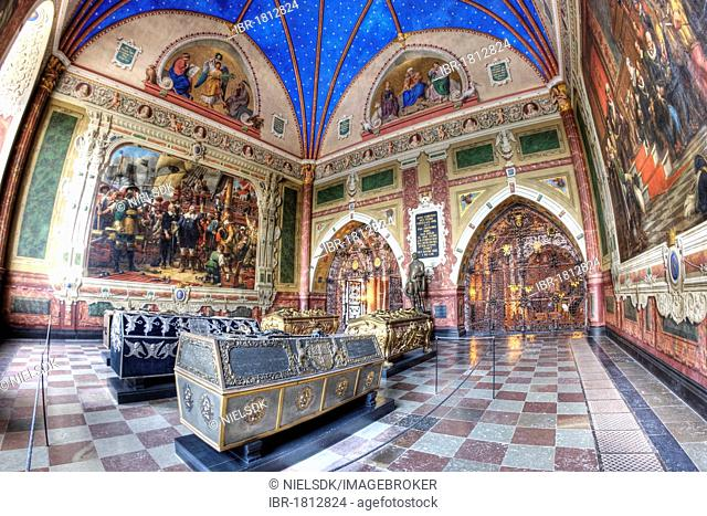 The Chapel of King Christian IV of Denmark, Roskilde Cathedral, Roskilde, Denmark, Europe