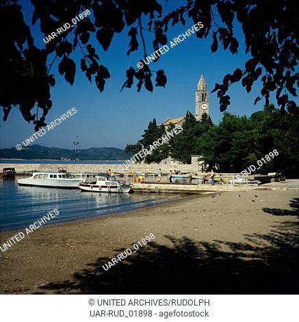 Urlaub in Dalmatien, Kroatien, Jugoslawien 1970er Jahre. Vacation in Dalmatia, Croatia, Yugoslavia 1970s