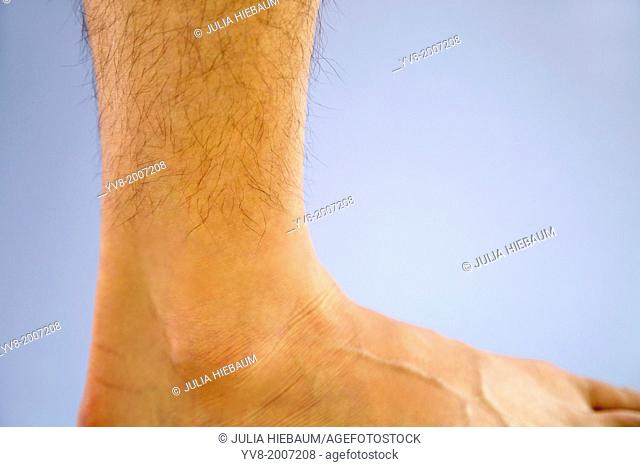 Adult male's right ankle
