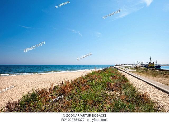 Baltic Sea Beach in Wladyslawowo