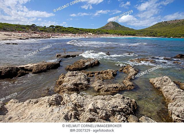 Coast near the beach of Cala Agulla, Cala Guya in Castilian, Cala Ratjada, Majorca, Balearic islands, Spain, Mediterranean Sea, Europe