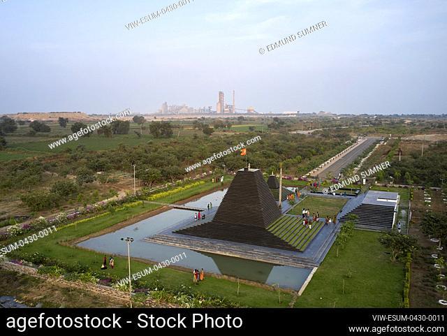 Drone View from above. Balaji Temple, Andhra Pradesh, India. Architect: Sameep Padora and associates , 2020