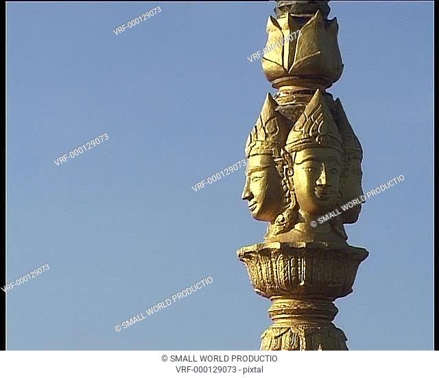 Golden temple statue. Laos