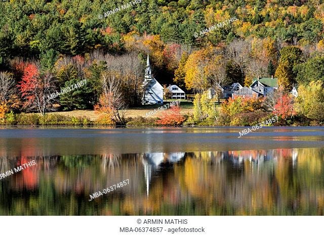 Autumn in Crystal Lake with Eaton, New Hampshire