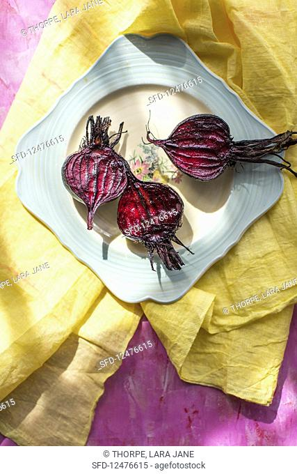 Roasted beetroot on a plate