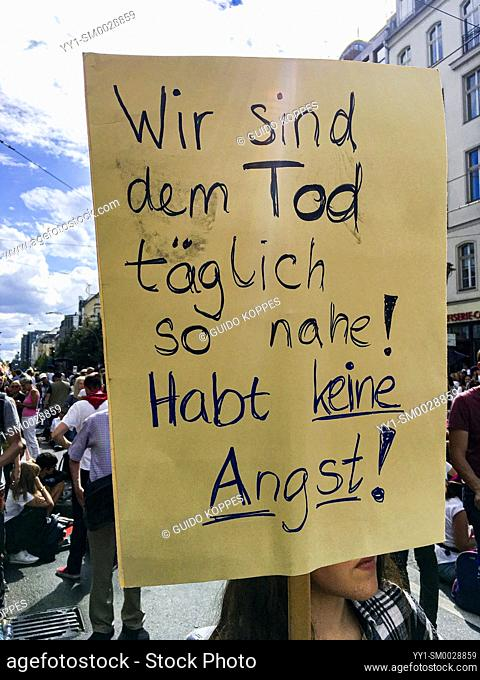 Berlin, Germany. On August 29, 2020 an estimated 30. 000 protesters gathered on Fredrichstrasse to protest against the measures the German government imposed...