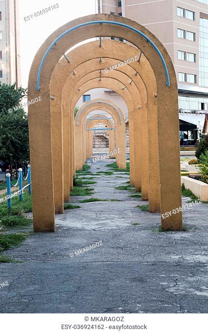 Old Communism Architecture in Tulcea Romania