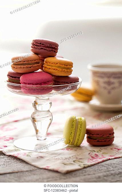 Macaroons and tea