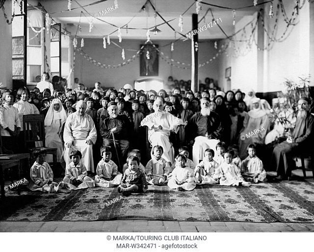 missione francescana in cina, monsignor agabito fiorentini presso le suore missionarie di maria, cina 1930-40 // Franciscan mission in China