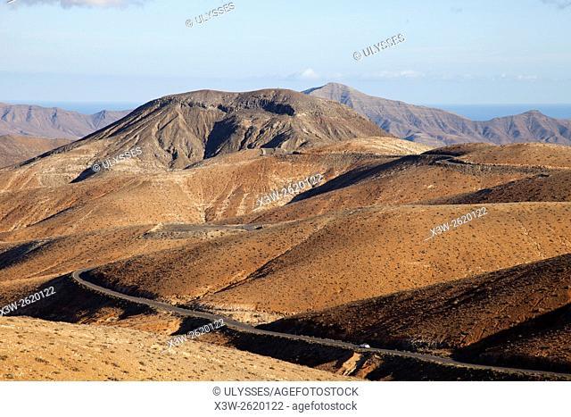 view from the Mirador Astronomico de Sicasumbre, Fuerteventura island, Canary archipelago, Spain, Europe