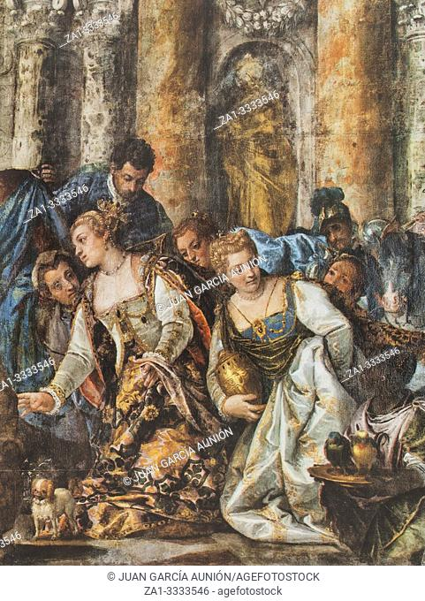 The Queen of Sheba Offering Gifts to Solomon by Veronese. Reproduction at House-Museum of Nunez de Balboa original at